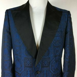 Fly Vintage Geometric Dinner / Smoking Jacket